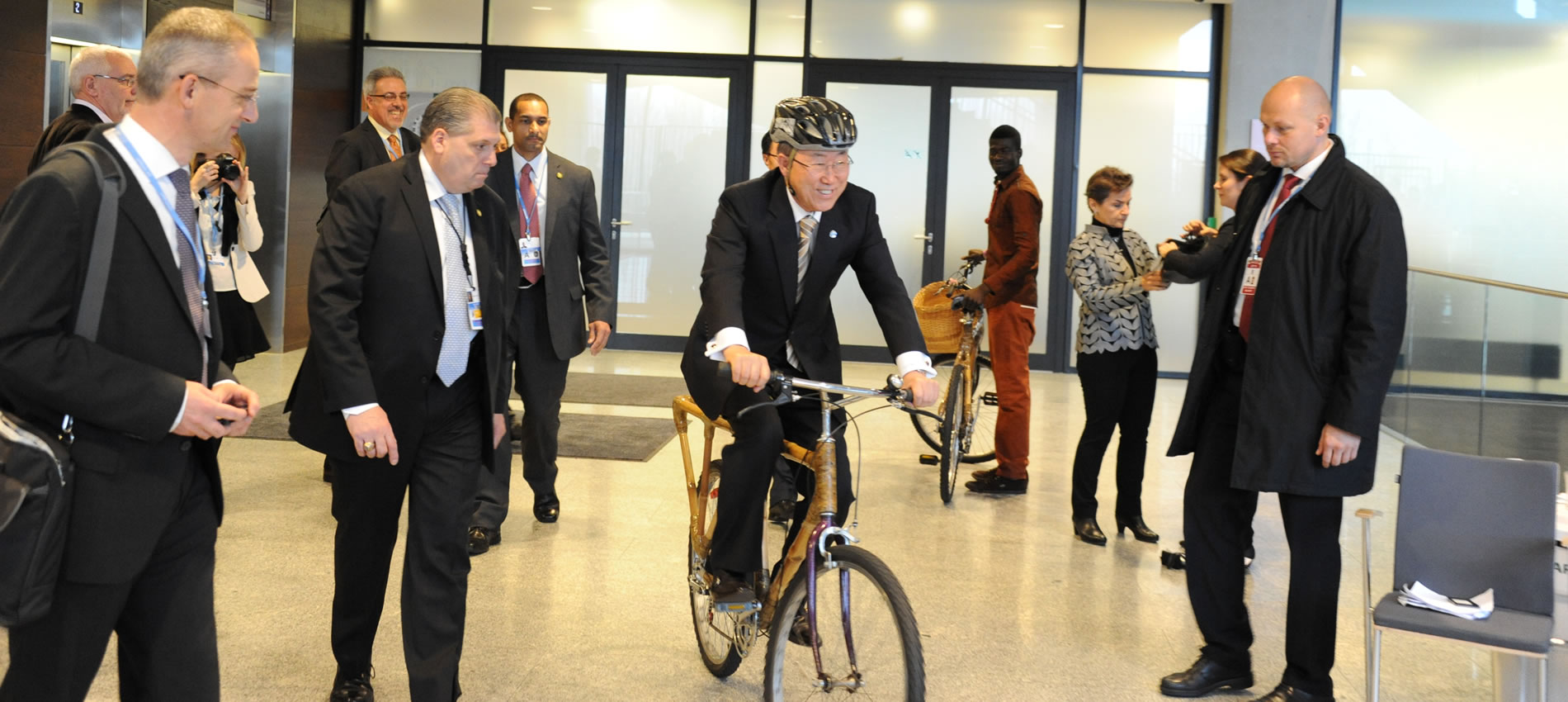 UN Secretary General Ban Ki-Moon riding one of our bikes